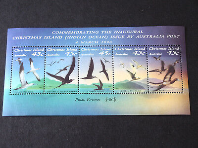 1993 - Seabirds of Christmas Island - joined 45c stamps Mini Sheet MNH