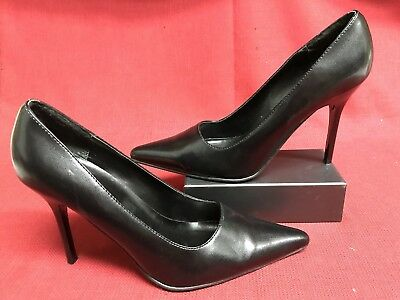 Black Fredericks Of Hollywood High Heel Stiletto Platforms Shoes Traditional 8M