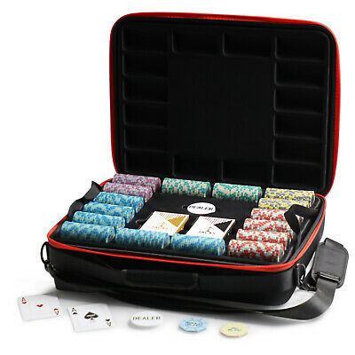 1000 Chips Poker Game Set Aussie Currency 14g Chips Viper Case Plastic Cards
