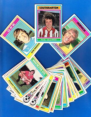 1976-77 Topps UK SOCCER LOT of SEVENTY-ONE (71) Different in EX/EX-/EX+SET BREAK