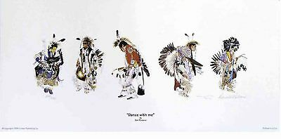 Lakota artist Donald Ruleaux's DANCE WITH ME limited edition print
