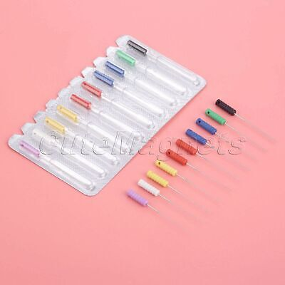 10Pcs Dental Files Endodontic Barbed Broaches Hand Use Files 00-06# 21/25mm