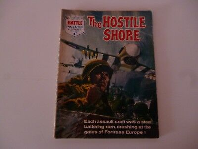 BATTLE PICTURE LIBRARY No 109 THE HOSTILE SHORE FLEETWAY LIBRARY 1963 *READ*