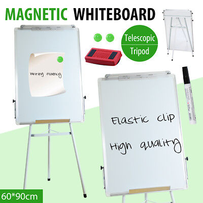 90x60cm Portable Magnetic Home&Office Board Whiteboard Marker Eraser Button