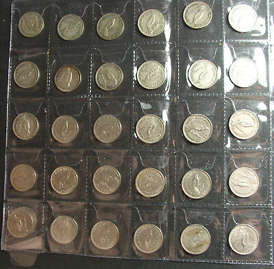 New Zealand coins, Sixpence set,