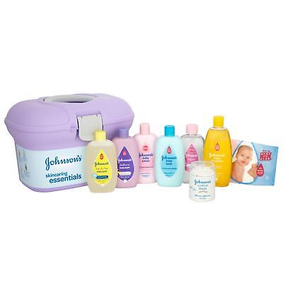 New Johnson's Skincaring Essentials Baby Gift Set Box With Accessories