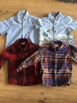 Bundle Of Boys Shirts 2/3 3/4 Years Next River Island Good Condition