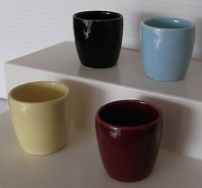 4 Wembley Ware Egg Cups Rare Collectable Australian Pottery Vintage  Australiana