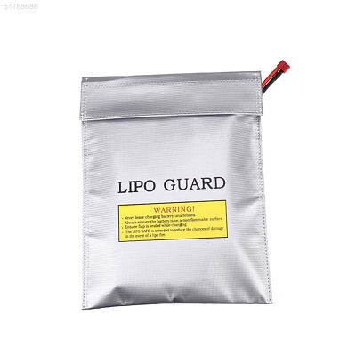 D121 LiPo Battery Fireproof Safety Guard Bags Double Sided Pouch Sack 23x30CM Si