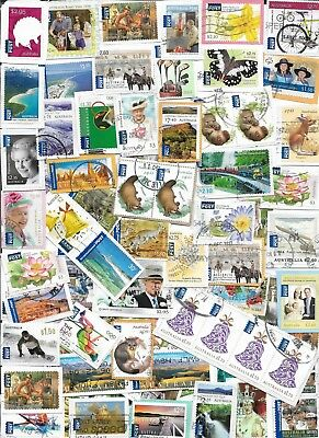 100  Australian International Post Stamps Kiloware
