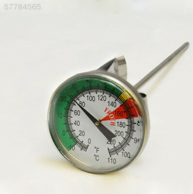 796D Kitchen Home Stainless Milk Froth Thermometer Coffee Pro Temperature Meter^