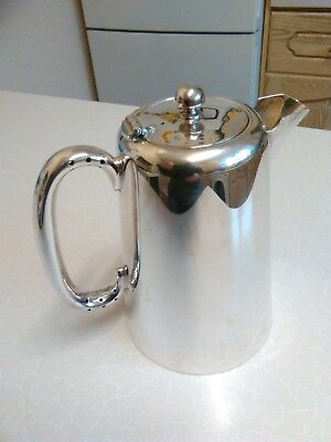 Vintage Silver Plated Hot Milk/Water Jug with Lid - 1 Pint (1143)