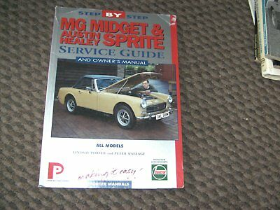 Mg Midget & Austin Healey Sprite Service Guide & Owner's Manual By Porter Manual