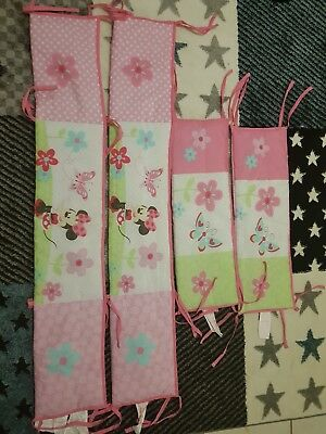 Minnie Mouse Cot Bumpers