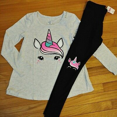 NWT Justice Girls Outfit Top/Legging Size 6 7 8 10 12  Unicorn