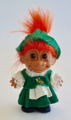 Around The World Germany Russ Troll Doll Orange hair 11cm