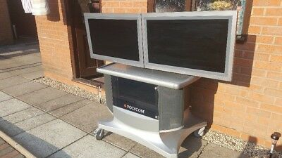 """Polycom Video Conferencing Unit With 2 x 32"""" Screens"""