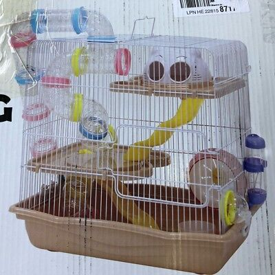 Interesting cage M022B, Ideal for Mouse, Hamster & Gerbil (L45 x W30 x H45cm)