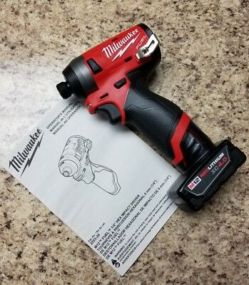 Milwaukee 2553-20 M12 FUEL 12V Li-Ion Brushless Impact Driver +(1) 4.0AH BATTERY