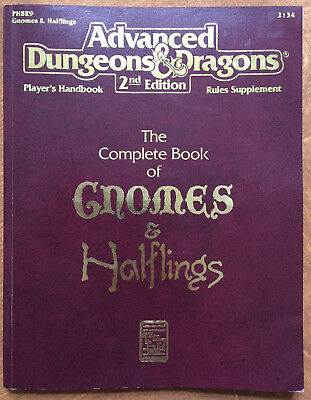 AD&D 2nd Edition The Complete Book of Gnomes and Halflings englisch