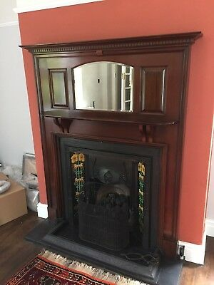 Stunning Large Fire-Surround with Mirror - Edwardian / Shabby Chic