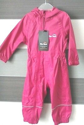 Peter Storm Baby Girls Pink  Waterproof Suit 6-12 months BNWT