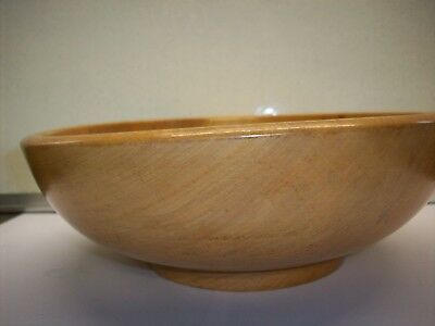 Old Wooden Floral Design Bowl.