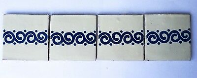90 Ceramic Mexican Wall Tile Hand Painted-Made Mexico Terracotta Tiles R15
