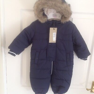 Navy Stormwear snow suit with hood, age 3-6 months,Marks & Spencer, BNWT