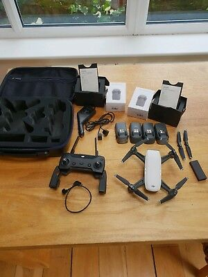 DJI Spark Camera Drone with controller, 4 Batteries And carry case