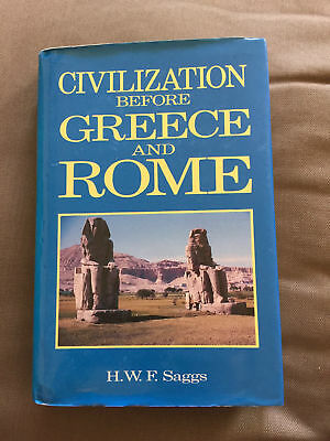 "1989 1St Edition ""civilisation Before Greece And Rome"" Hardback Book"