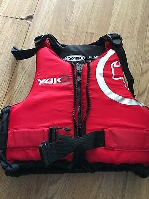 fd5c0e511 50N YAK LIFE Jacket, Buoyancy Aid, Red and Black Junior S/M 86-107cm.  Excellent
