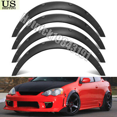 """4Pcs 3.1""""/80mm Universal Durable Car Fender Flares Over Wide Body Wheel Arches"""