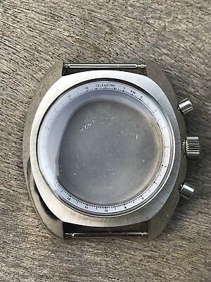 VALJOUX vintage chronograph case for Valjoux 7733,7734,7736 new and unused