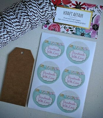 24 Handmade with Love stickers