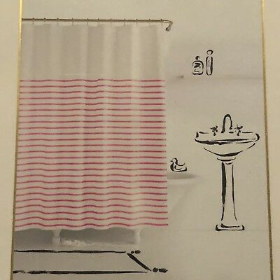 Kate Spade NWT Harbour Stripe Shower Curtain