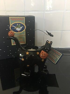 Wiiiraye Studio Halloween Black Cat Tealight Holder Ww6016