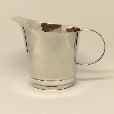 Art Deco Solid Silver Cream  or Milk Jug - Hallmarked for Chester 1945 Very Good