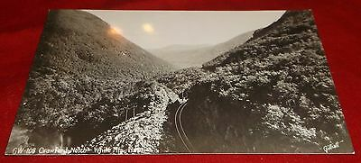 Vintage Postcard RPPC - Crawford Notch White Mountains New Hampshire - Sent 1941