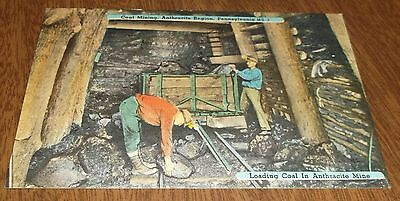 Postcard Vintage - Coal Mining Anthracite Region Pennsylvania 1963 Hazelton Post