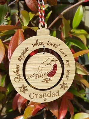 Robin Memorial Tree Decoration, Memorial For Loved Ones, Christmas