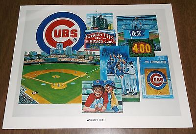 1984 Unocal Chicago Cubs Illustration Print - Wrigley Field