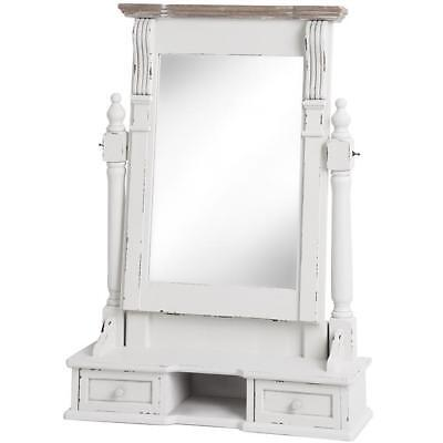 Shabby Chic Mirror Dressing Table White Large Vintage French Antique Ornate Wall