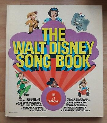 GUC The Walt Disney Song Book Vintage Piano Music Lyric Golden Book Kid 1974