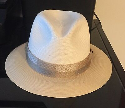 d1e17ee56b5 STETSON ANDOVER FLORENTINE Milan Straw Fedora 7 1 4 Ivory And Black ...