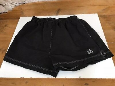 Vintage 1990s Penn Racquet Sports Shorts Mens medium BNWT Black Nylon Tennis OG