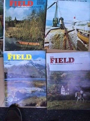 Vintage : THE FIELD magazines job lot x 8 - 1960's great condition