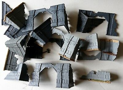 Lord of the Rings lot of ruin walls terrain Moria / Amon Hen etc Games Workshop
