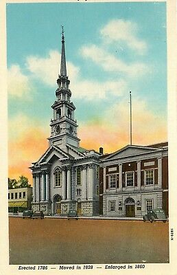 Keene, NH, First Congregational Church, 1941 Linen Vintage Postcard c6523