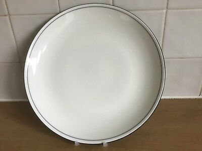 Denby Black / Cream Intro 27.5 cm Dinner Plate